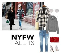 """""""#Contest - Best NYFW Street Style"""" by megan-76 ❤ liked on Polyvore featuring Frame Denim, Yves Saint Laurent, Gianvito Rossi, Chanel, Kosha, women's clothing, women, female, woman and misses"""