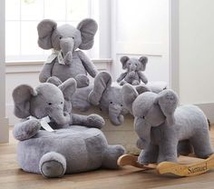 Elephant Plush Rocker | Pottery Barn Kids