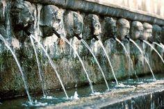Fontana delle 99 Canelle. L'Aquila. Abruzzo, Italy