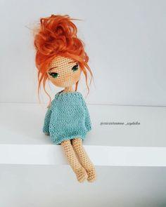 Mesmerizing Crochet an Amigurumi Rabbit Ideas. Lovely Crochet an Amigurumi Rabbit Ideas. Crochet Doll Clothes, Knitted Dolls, Crochet Dolls, Crochet Amigurumi Free Patterns, Amigurumi Tutorial, Cute Crochet, Stuffed Toys Patterns, Amigurumi Doll, Beautiful Dolls
