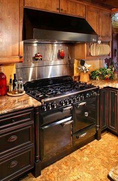 black aga range - Rustic Kitchens - Kitchens.com