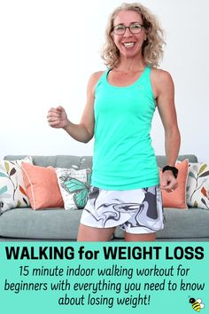 Walking for Weight Loss, 15 minute workout . think you have to eat less and move more to lose weight?I've got the straight skinny on how to lose weight sensibly with moderate exercise (like this walking workout!) and the right number of calories Quick Weight Loss Tips, Weight Loss Help, Losing Weight Tips, Weight Loss Plans, Weight Loss Program, Ways To Lose Weight, Reduce Weight, Weight Loss Workout, Fat Workout