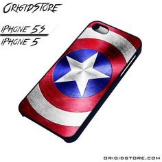Captain America Steel Shield Stars Case For Iphone 5/5S Case
