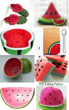 water melon collection by Paola Fornasier on Etsy--Pinned with TreasuryPin.com