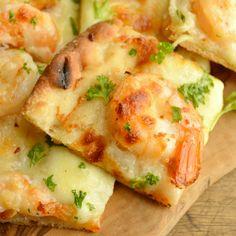 Garlic Shrimp Flatbread Recipe