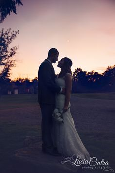 Pittsburgh Wedding -  Sunset wedding photo - Silhouette -  © Lucia Cintra Photography - www.luciacintra.com