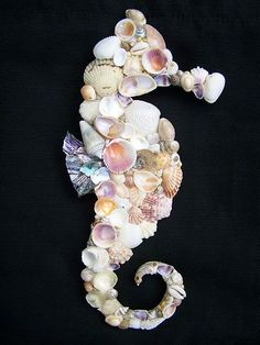 seahorses made seashells | sea horse made of shells