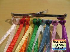 DIY Craft: Rainbow Ribbon Hair Barrette