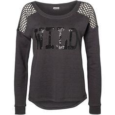 Vero Moda Long Sleeved Sweatshirt ($22) ❤ liked on Polyvore featuring tops, hoodies, sweatshirts, shirts, asphalt, sweatshirts hoodies, extra long sleeve shirts, cut loose shirt, loose shirts and long sleeve sequin top