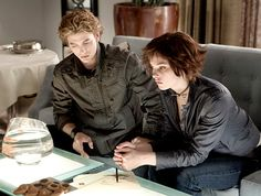 Jackson Rathbone and Ashley Greene as Jasper Hale and Alice Cullen in 2008's Twilight.