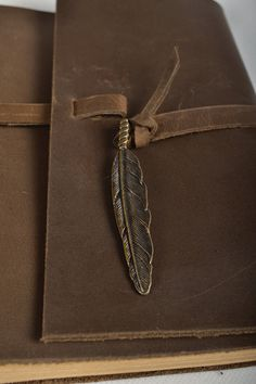 Leather journal handmade leather notebook vintage by CLWorkshop