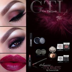 We love this Cranberry Bliss look created by @elymarino using #motivescosmetics