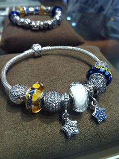 Michigan inspired bracelet from the Pandora Store at Briarwood Mall in Ann Arbor!