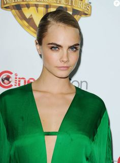 Cara Delevingne lors de la présentation Warner Bros The Big Picture au CinemaCon à Las Vegas, le 12 avril 2016.