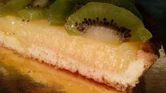 Tarta de crema de limon y kiwi
