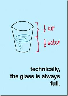 Technically, the glass is always full!
