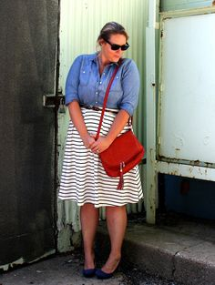 In Kinsey's Closet | Chambray + Stripes