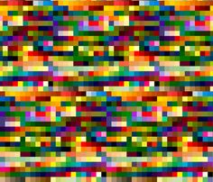 colors fabric by thatswho on Spoonflower - custom fabric... it may give me a seizure, but I WANT IT.
