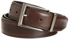 Perry Ellis Men's Resa Junior Dress Belt, Brown, 32 Perry Ellis. $29.97. Made in China. Perry ellis belts have 7 holes for better fit. Dry Clean Only. 100% Leather. Reverses from brown to black
