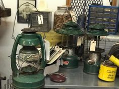 Coleman Lantern  $25 to $48 Each   Vintage Affection Dealer #1680  White Elephant Antiques 1026 N. Riverfront Blvd. Dallas, TX 75207