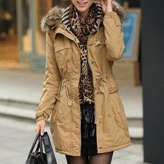 Winter Women's Long Sleeved Hooded Coat