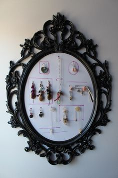 Jewel wall on a baroque frame from Ikea