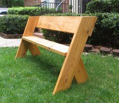 DIY Tutorial - $16 Simple Outdoor Wood Bench | The Project Lady