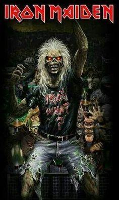 For everything Metallica check out Iomoio Iron Maiden Band, Iron Maiden Cover, Eddie Iron Maiden, Hard Rock, Heavy Metal Rock, Heavy Metal Bands, Heavy Metal Music, Iron Maiden Posters, Eddie The Head