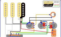 standard Stratocaster wiring diagram Electronics in 2019