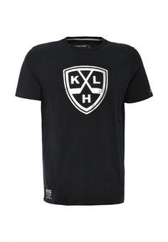 Футболка Atributika & Club™ KHL Футболка Atributika & Club™. Цвет: черный.  Сезон: Осень-зима 2016/2017. Одежда, обувь и аксессуары/Мужская одежда/Одежда/Футболки