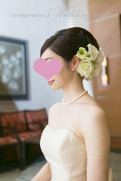 結婚式でのヘッドフラワー(ウェディングドレス) - comomo's Wedding note