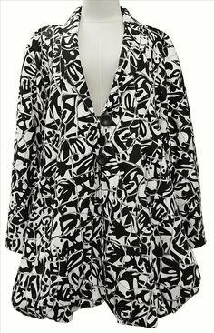 Akh Fashion Lagenlook Layering ausgefallene Damen Jacke in schwarz weiß XL Mode bei www.modeolymp.lafeo.de