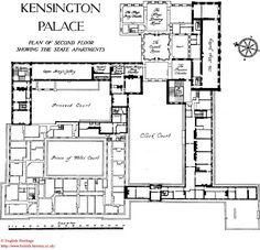 Layout Of Kensington Palace 1st Home London Pinterest