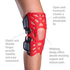 The DonJoy Reaction WEB Knee Brace is one of the best for anterior knee pain. It absorbs shock and shifts peak loads away from the painful area of the knee