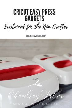 Cricut Easy Press Gadgets Explained for the Non-Crafter - Chambray Blues Sewing Cricut Tutorials, Cricut Ideas, Sewing Tutorials, Sewing Projects, Diy Vinyl Projects, Craft Projects For Kids, Diy Crafts For Kids, Sell Diy, Diy Crafts To Sell