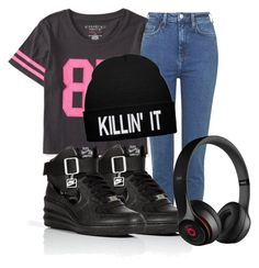 """""""Tomboy"""" by fashstyle16 ❤ liked on Polyvore featuring Aéropostale, Topshop, NIKE and Beats by Dr. Dre"""