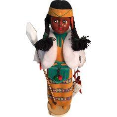 1987 'Original Indian Art' Hard Plastic Doll -- found at www.rubylane.com #thedollworldshome