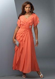 Orange Plus Size Evening Dresses