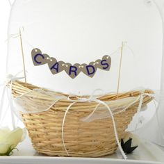Wedding Card Holder Basket Rustic Fall Wedding by LavaGifts, $32.00
