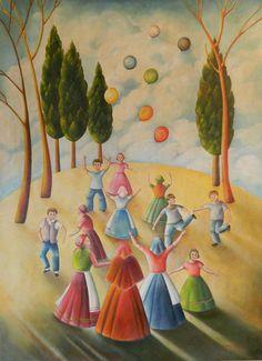 La gioia di vivere - Maurizia Cardoni, sezione arti grafiche e pittoriche