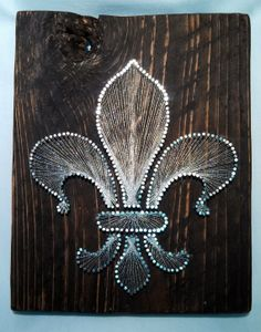 Fleur De Lis String Art, Wall Hanging, Rustic Cypress, Silver, Wedding Gift, Bridal Shower Gift, Birthday Present, Valentines Day Gift on Etsy, $35.00