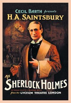 H. A. Saintsbury as Sherlock Holmes (book cover) 28x42 Giclee on Canvas