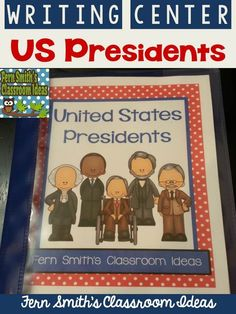 United States Presidents Book, All 44 presidents and blank templates for the future. Second and Third Grade Version with Handwriting Lines Use for an Entire Class Book or Individual Books {Also makes terrific bulletin board displays} #TPT $Paid