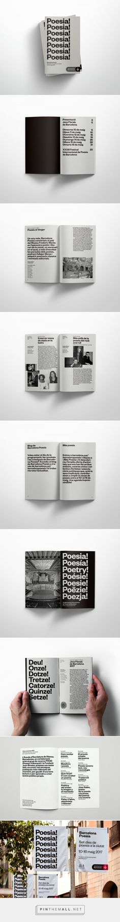 Barcelona Poesia on Behance... - a grouped images picture - Pin Them All