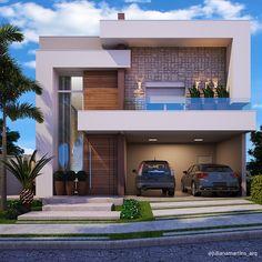 Ideas Minimalist House Design Architecture Simple For 2019 Modern Exterior House Designs, Modern House Facades, Dream House Exterior, Modern Architecture House, Cool House Designs, Architecture Design, Modern Villa Design, Architecture Diagrams, Architecture Portfolio