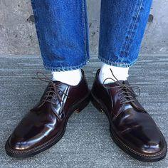 2017/02/11 12:08:10 f.u.j.i 2017.2.11 今日のあしもと #今日の靴 #今日の足元 #足元倶楽部 #あしもと倶楽部  #alden #alden990 #オールデン