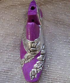 Horma de zapato con repujado de estaño - 2
