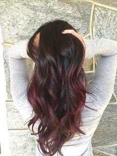+15 Really Long Hairstyles | For More Other Long Hairstyle (Burgundy Hair Bob)