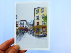 PARIS NOTE CARDS: Montmartre in Paris
