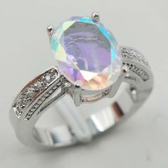 Vencyne Sterling Silver Plated Rings Topaz simulated